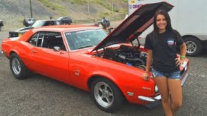 18 Year Old Girl 8-SECOND Pass in Twin Turbo 1969 Camaro (2)