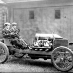 1905 Darracq Land speed record car with 200HP drifting (1)