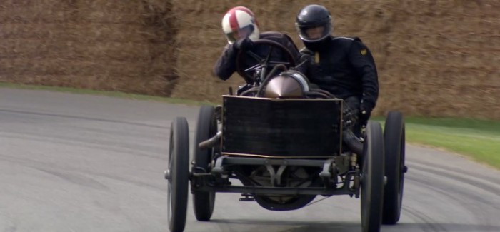 1905 Darracq Land speed record car with 200HP drifting – Video