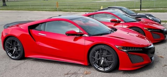 2 New Red Acura NSX's Have Been Caught On Camera In Public Street