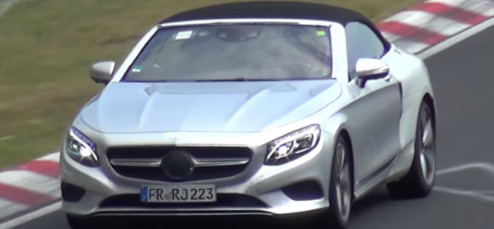 2016 Mercedes-Benz S-Class Cabriolet Testing Spy – Video