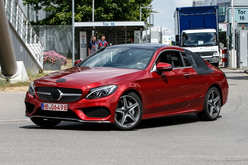 2016 mercedes c class coupe spy photos dpccars. Black Bedroom Furniture Sets. Home Design Ideas
