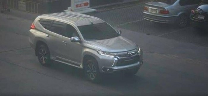 2016 Mitsubishi Pajero Sport caught without any cover