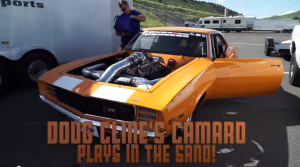 3000HP Camaro Turbos filled with sand after it goes off road - 1