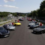 40 Ferrari F12 Berlinettas gathered together for a track day (1)