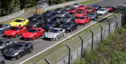 40 Ferrari F12 Berlinettas gathered together for a track day (7)