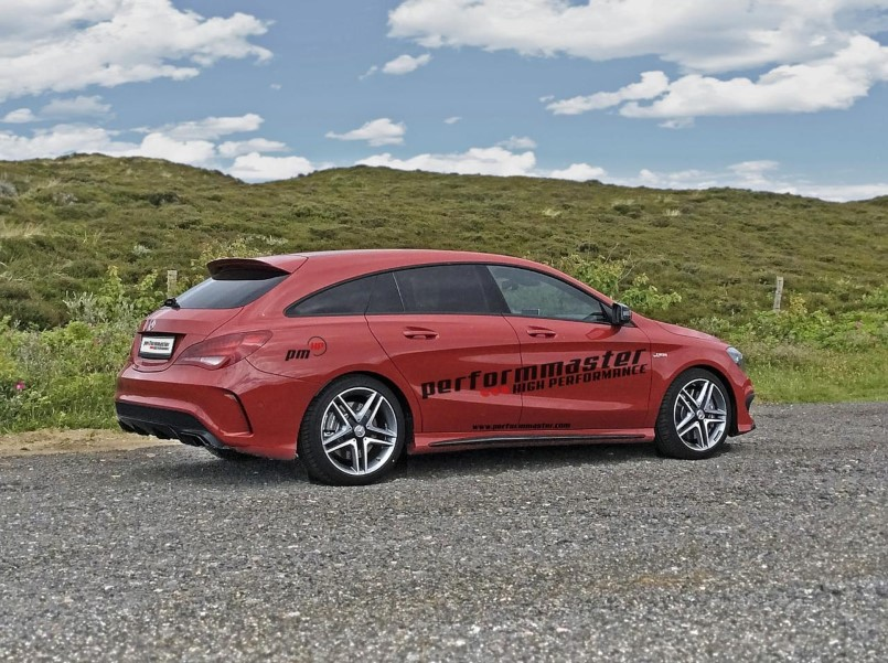 410hp mercedes cla 45 amg shooting brake by performmaster dpccars. Black Bedroom Furniture Sets. Home Design Ideas