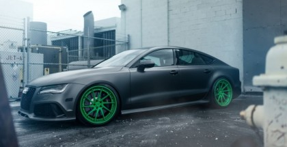 Audi RS7 With Matte Green Custom Wheels (13)
