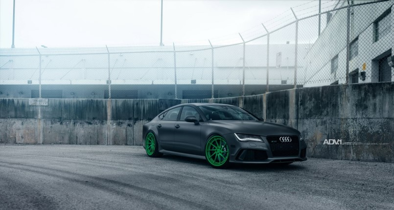 Audi Rs7 With Matte Green Custom Wheels Dpccars