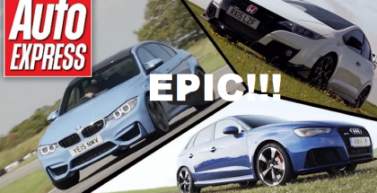 Auto Express - Honda Civic Type R vs BMW M3 vs Audi RS3 1