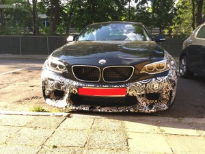 BMW M2 test car spied close up (1)
