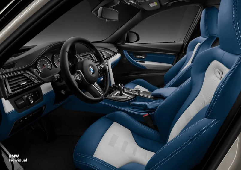 Bmw M3 Individual With Silver And Blue Interior Dpccars