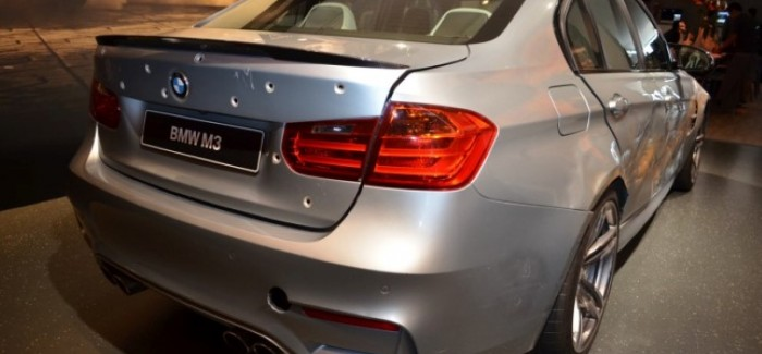BMW M3 with bullet holes from Mission Impossible