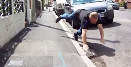British Road Rager Eats Pavement (1)