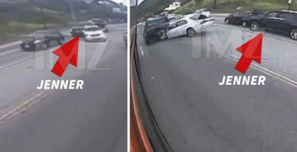 Bruce Jenner Crash Bus Surveillance Video