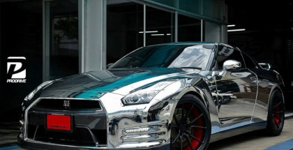 Chrome Wrapped Nissan GT-R by Prodrive (4)