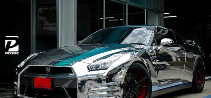 Chrome Wrapped Nissan GT-R by Prodrive