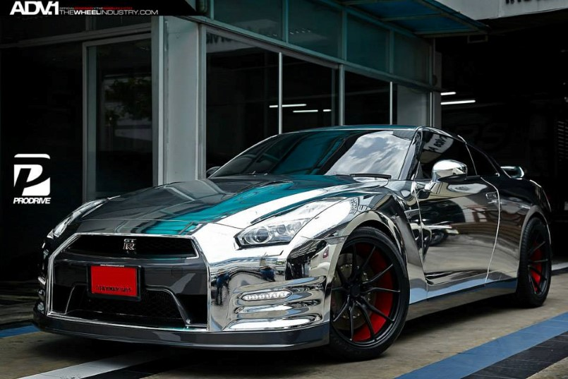 Chrome Wrapped Nissan Gt R By Prodrive Dpccars