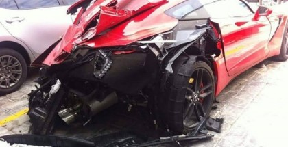 Corvette C7 Destroyed During High-Speed Crash (2)
