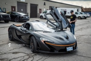 Deadmau5 McLaren P1 with a new matte black wrap (1)