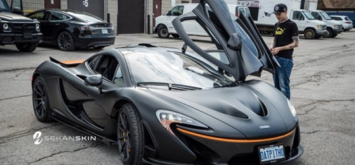 Deadmau5 McLaren P1 with a new matte black wrap