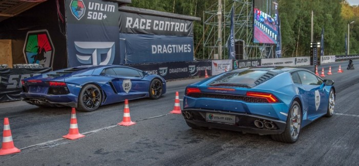Drag Race – Stock Lamborghini Aventador vs Stock Huracan – Video