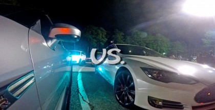 Drag Race - Tesla Model S P85D Insane Mode vs 800HP Nissan GT-R
