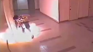 Electric Unicycle Bursts Into Flames