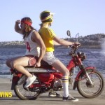 Etiquette for a male passenger on a motorcycle (2)