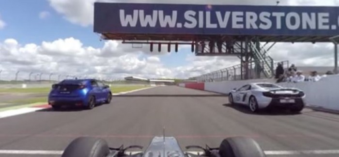 F1 Car vs McLaren 650S – You can control the view – Video