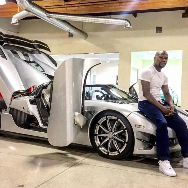 Floyd Mayweather takes delivery of his Koenigsegg CCXR Trevita ...