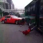 Gangnam Style singer Psy crashes his red Rolls Royce Ghost (1)