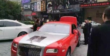 Gangnam Style singer Psy crashes his red Rolls Royce Ghost (3)