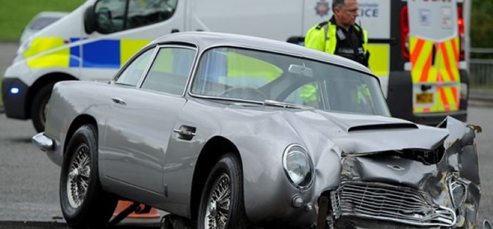 Get Ready To Cry – Aston Martin DB5 Crashed