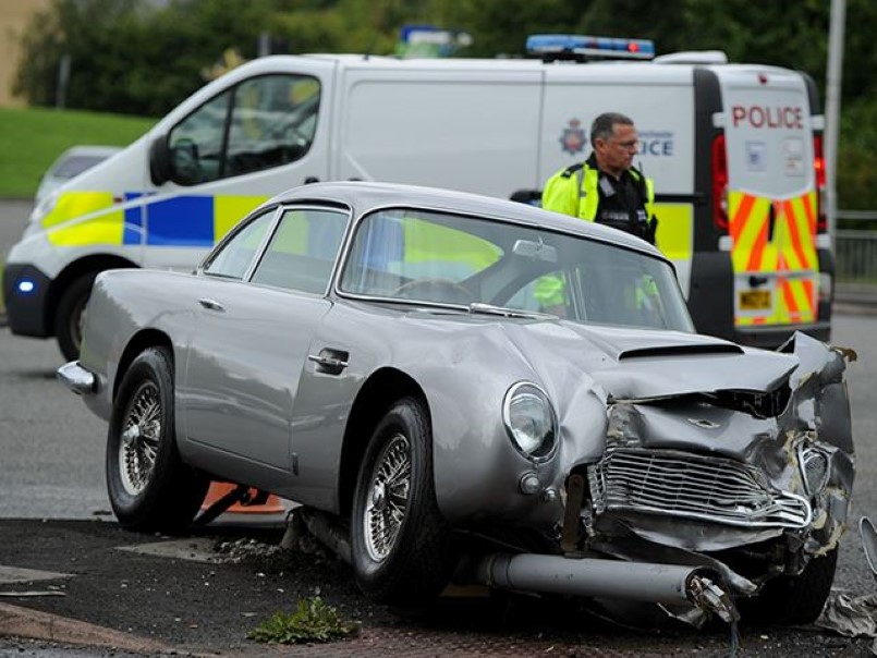 Get Ready To Cry Aston Martin Db5 Crashed Dpccars