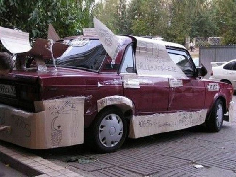 Hilarious Russian Car Tuning 3