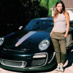 Hot babe learning how to drive stick in a half million Porsche 997 GT3RS 4 (1)