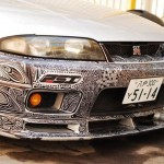 How to fix a scratched Nissan Skyline R33 with a sharpie (1)