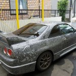 How to fix a scratched Nissan Skyline R33 with a sharpie (13)