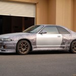 How to fix a scratched Nissan Skyline R33 with a sharpie (6)