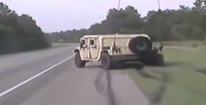 Humvee high speed police chase (4)