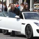 Jeremy Clarkson with his Lamborghini Huracan and Jaguar F-Type (3)