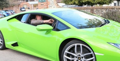 Jeremy Clarkson with his Lamborghini Huracan and Jaguar F-Type (5)