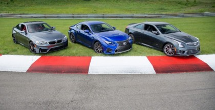 Lexus RC-F vs Cadillac ATS-V vs BMW M4