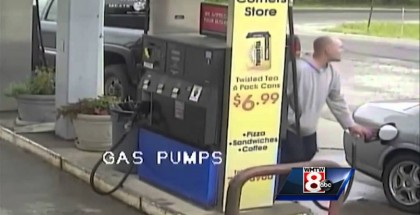 Man Almost Getting Crushed At A Gas Pump By Out Of Control Car