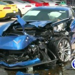 Man with Seizure crashes into two Corvette C7's (1)