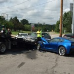 Man with Seizure crashes into two Corvette C7's (2)