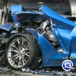 Man with Seizure crashes into two Corvette C7's (4)