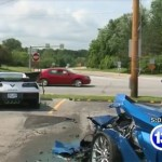 Man with Seizure crashes into two Corvette C7's (5)