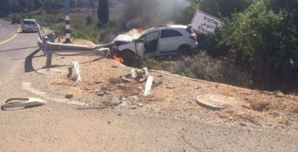 Mercedes A45 AMG Edition 1 Crashes and Catches Fire (3)